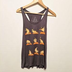 Bear Dance Pug Yoga tank top